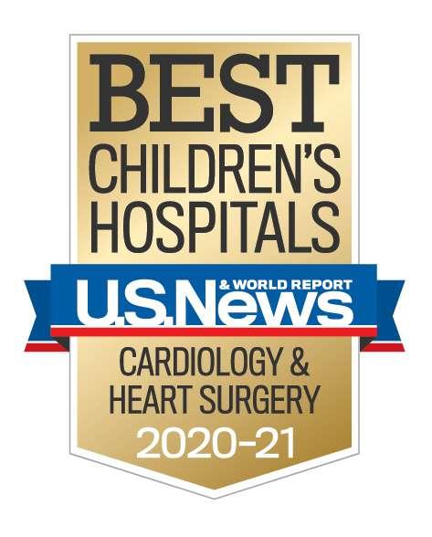U.S. News Best Children's Hospitals Cardiology Year 2020-2021
