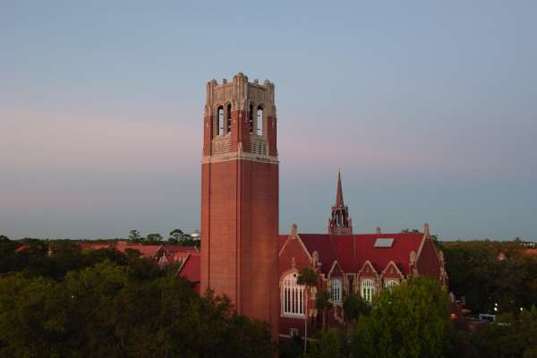 UF Century Tower at sunset